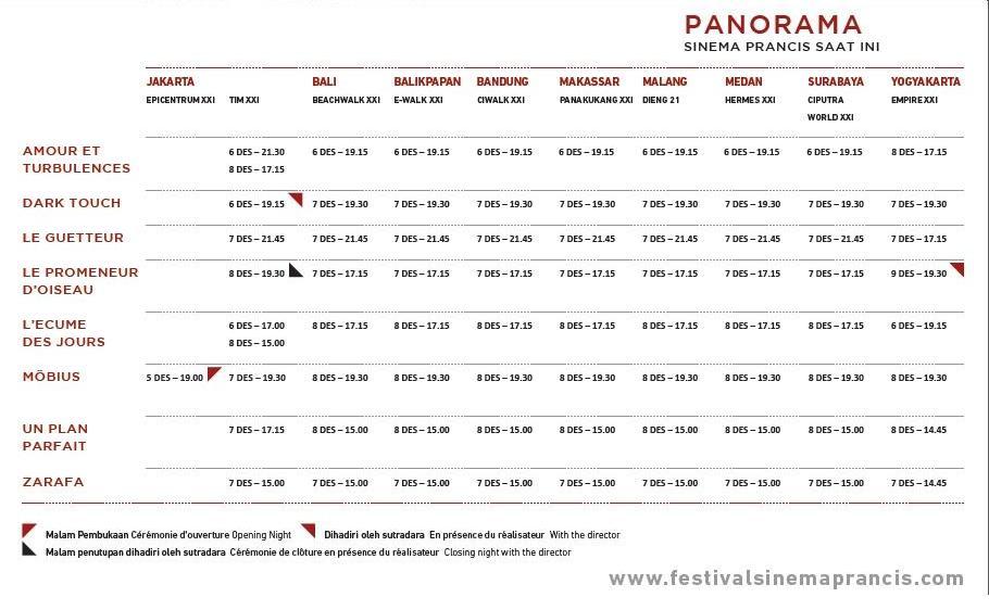 Jadwal Sinema Prancis